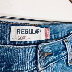 Levi's Shorts - Levi's 505 Custom Distressed Denim Cutoff Shorts